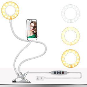 Unazë drite me LED për foto & video dhe makeup e përshtatshme për çdo lloj telefoni