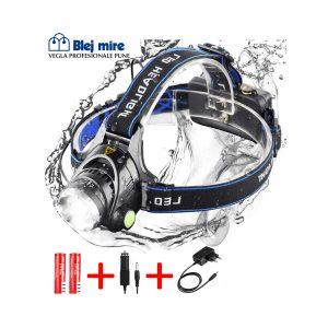 Llampë koke multifunksionale me 2 bateri rimbushëse, për punë, shtëpi, sporte dhe për natyrë